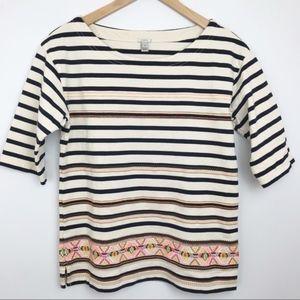 J. CREW | Neon Embroidered Aztec Stripe Shirt S